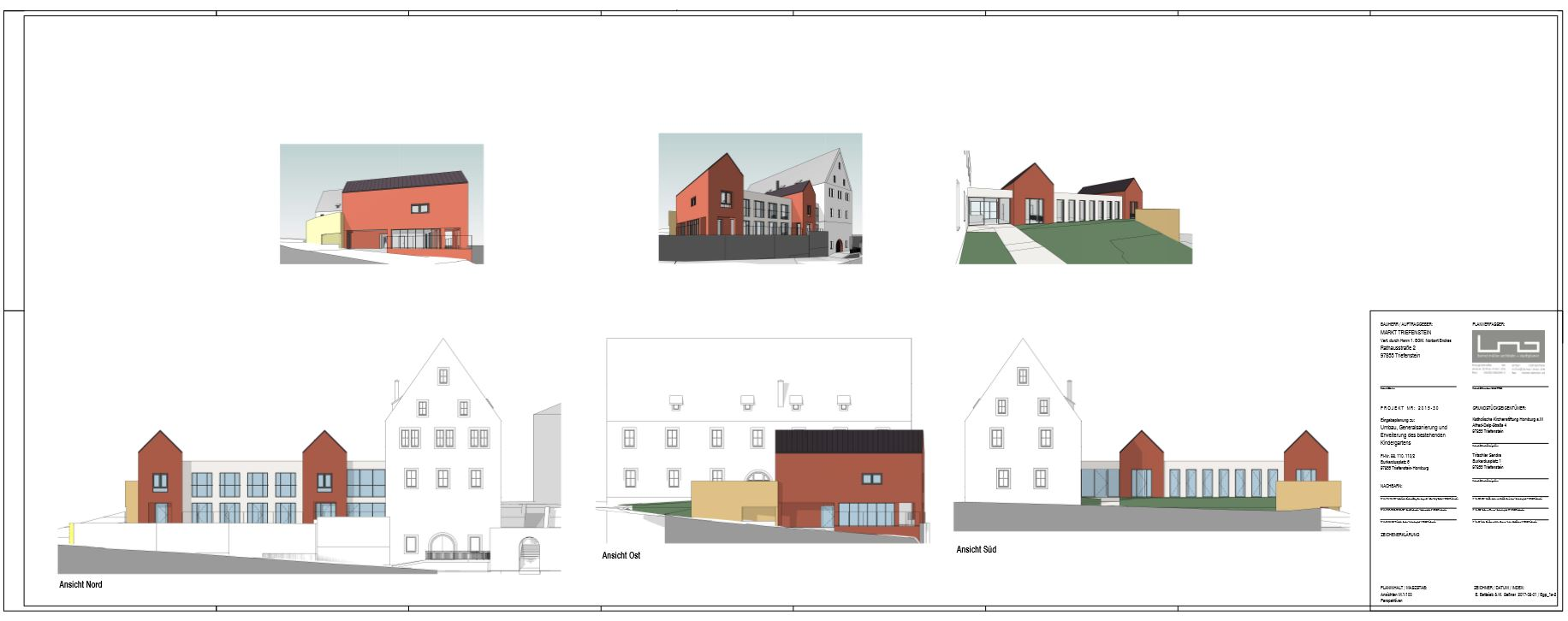 Bauplan Umbau/Neubau Kindergarten